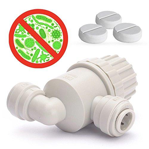 Desinfektion-Set für Wasserfilter mit 1/4 Zoll Quick Connect Anschluss, Desinfektionsmittel Desinfektion für Tafelwasseranalagen Sprudelanlagen Sprudelgeräte Sprudelux