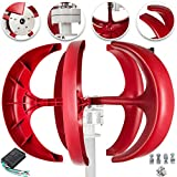 Happybuy Wind Turbine 400W 12V Wind Turbine Generator Red Lantern Vertical Wind Generator