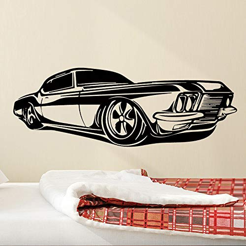 Pegatinas de pared extraíbles para coche divertidas extraíbles para habitaciones de niños accesorios de decoración del hogar a prueba de agua pegatinas de decoración de pared A2 43x135cm
