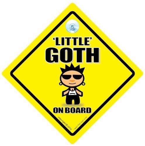 Little gothique sur Board, panneau Little gothique, goth, punk, panneau bébéà bord, nouveauté voiture à bascule Sign Sign, Coque, bébéà bord, autocollant, en voiture, gothique, punk