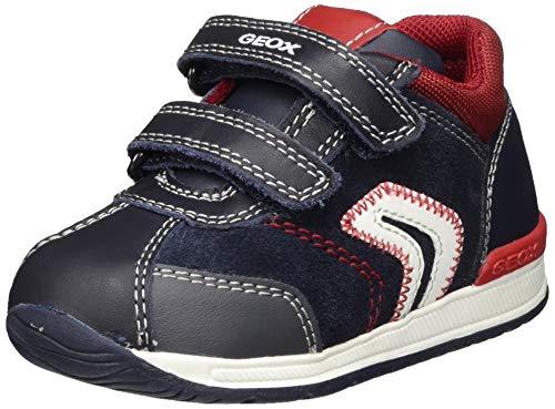 Geox Baby-Jungen B RISHON Boy B First Walker Shoe, (Navy/Dk Red), 24 EU