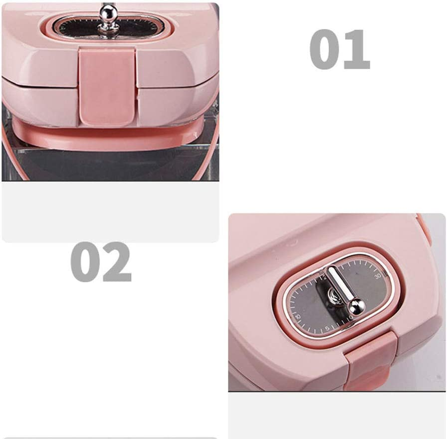 UPANV Gaufrier, Plaques Enduites Antiadhésives Quad Waffle Easy Clean Et Contrôle Automatique De La Température, Design Compact en Acier Inoxydable 3 Couleurs,Rose Blue