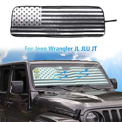 Sport 2pcs Unlimited JL Rubicon 4 Door UV Reflector Sun Protection Accessories Sahara Sport S YelloPro Side Window Rear Seat Sunshade Custom Fit for 2018 2019 2020 2021 Jeep Wrangler