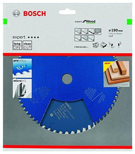 Bosch Kreissägeblatt Expert für Holz, 190 x 30 x 2 mm, Zähnezahl 48, 1 Stück, 2608644085 - 2
