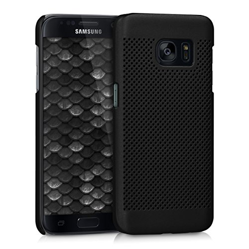 kwmobile Hülle kompatibel mit Samsung Galaxy S7 - Handyhülle Handy Hülle Cover - Schutzhülle Lochgitter Schwarz