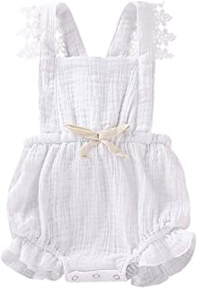 Baby Girls Jumpsuit Newborn Infant Kids Floral Clothes Summer Romper Bodysuit Sundress Outfits