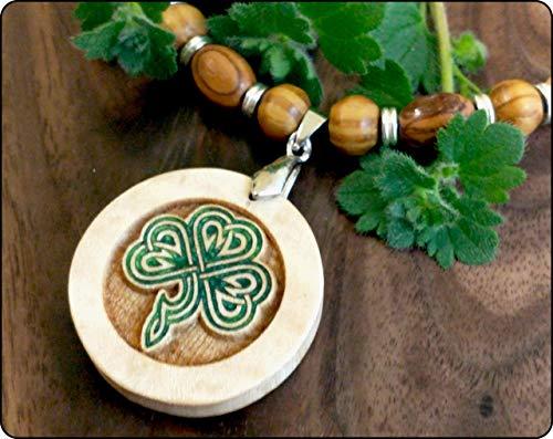 Clover Necklace Celtic Jewelry Irish Shamrock Lucky Charm Clover Pendant Irish Gift