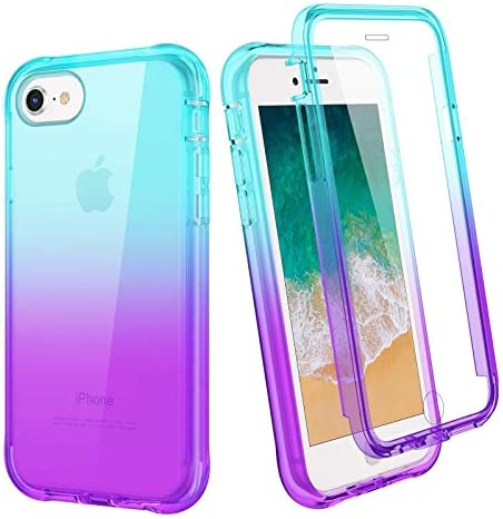 Ruky iPhone 6 6S 7 8 Case iPhone SE 2020 Case Full Body Clear Rugged Cover with Built in Screen product image