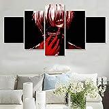 Póster impreso en lienzo decoración del hogar 5 piezas Tokyo Ghoul RE Ken pintura arte de pared...