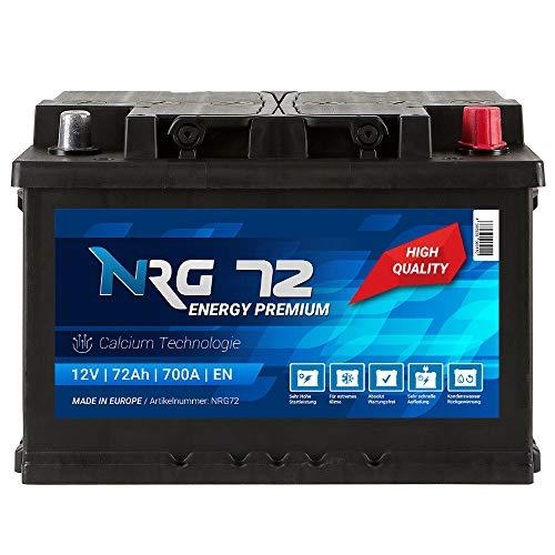 NRG Premium Autobatterie 12V 72AH 700A/EN Batterie ersetzt 65AH 68AH 70AH 74AH 75AH 77AH 80AH