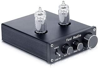 Fosi Audio P1 Tube Pre-Amplifier Mini Hi-Fi Stereo Buffer Preamp 6K4 Valve & Vacuum Pre-amp with Treble & Bass Tone Control for Home Theater System