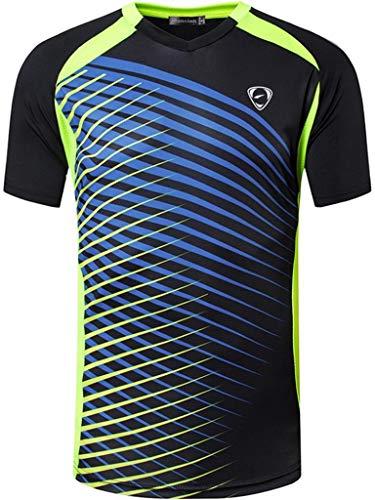 jeansian Uomo Asciugatura Rapida Sportivo Maglietta Gym Wear Workout T-Shirts LSL230 Black M
