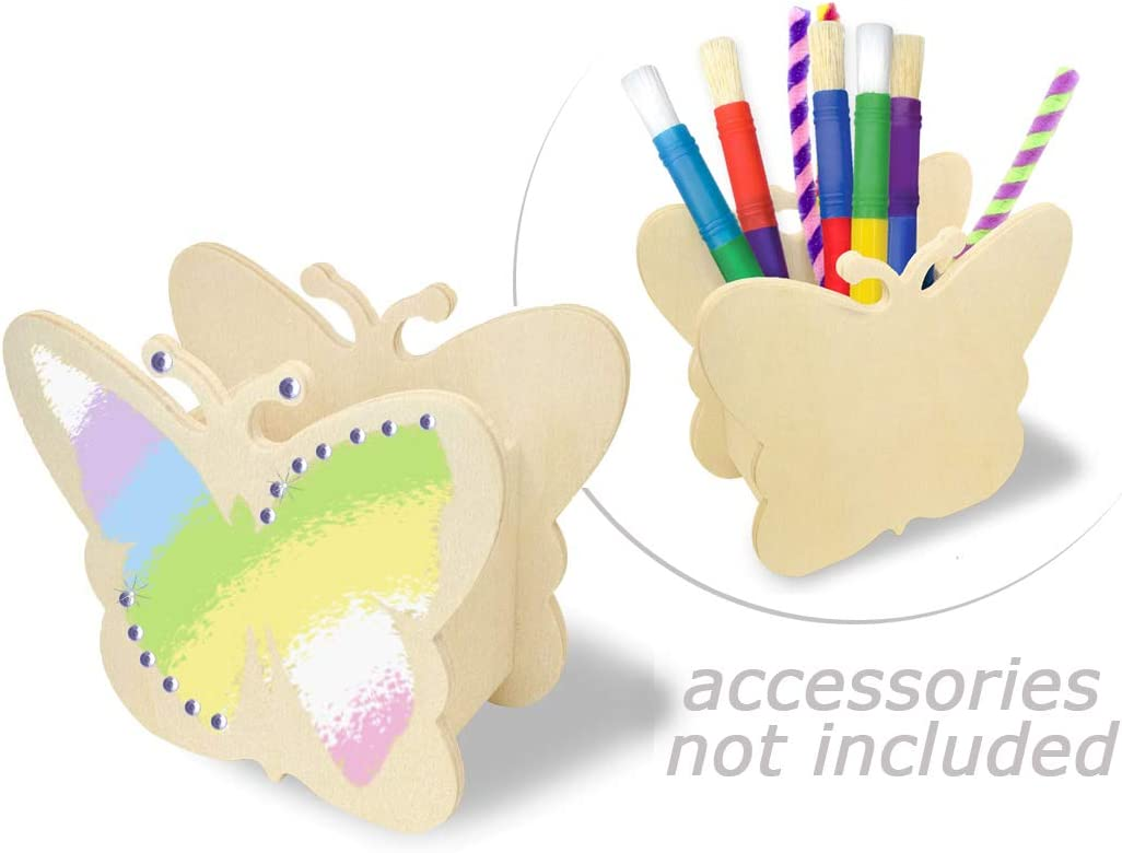 Amazon.com Paint Your Own Wooden Pencil Holder Kids DIY Kits for ...