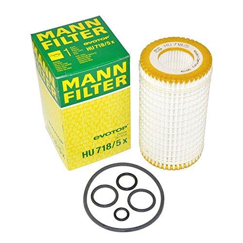 Mann-Filter HU718/5X Mercedes-Benz Engine Oil Filter (Pack of 2)