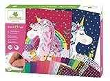 Mosaïques autocollantes pour enfants - 5 maxi tableaux Licornes - Loisir créatif - Stick & Fun - Dès 5 ans - Sycomore - CRE7001