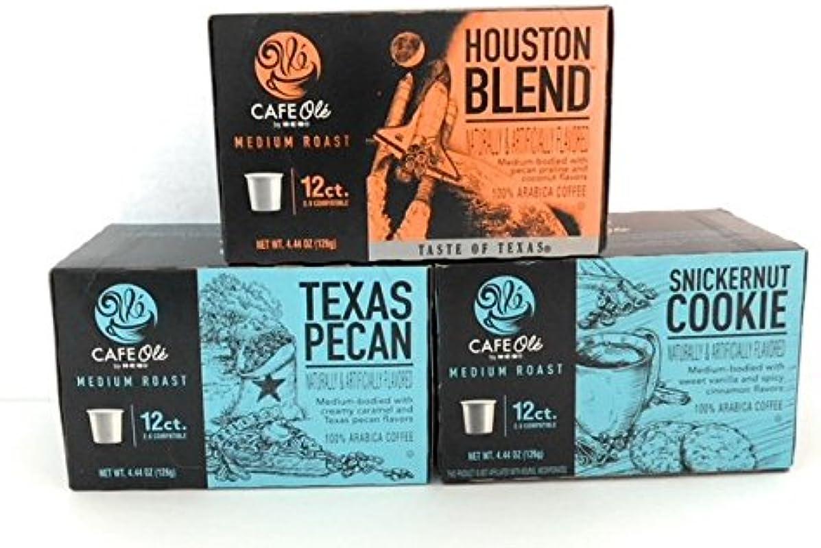 Cafe Ole K Cups Assortment Houston Blend Texas Pecan SnickerNut Cookie