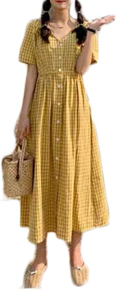Dress Women's Cocktail Formal Swing Dress Three-Color Lattice Platycoron Skirt Long Skirt 3 Colors 4 Sizes Sleeveless Slim Business Pencil (Color : C, Size : L)