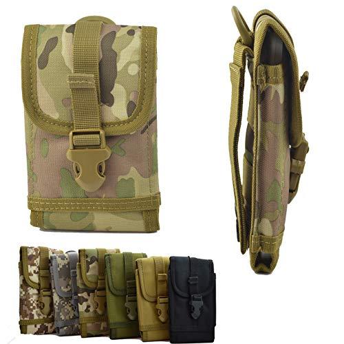 ikracase Outdoor Hülle für Caterpillar CAT S60 Smartphone Gürteltasche Schutz-Hülle Tasche Hülle Cover Holster in Camouflage