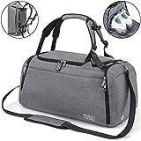 CySILI® Reisetasche Sporttasche mit Rucksack-Handgepäck mit Schuhfach - Nassfach & Zahlenschloss -...