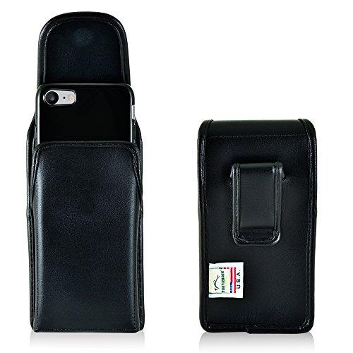 TURTLEBACK Holster for iPhone 8 iPhone 7, Black Vertical Belt Case Leather...