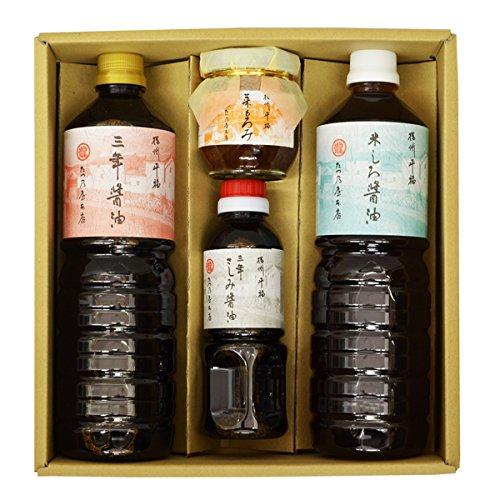たつ乃屋本店 三年醤油・米しろ醤油 ペットボトル(大)(1000ml) 各2本さしみ醤油 ペットボトル(小)(300ml)菜もろみ 瓶(180g)