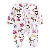 Livoral Baby Winter Even Jacke Kleinkind Baby Boy Print Dicke warme Flanell Baby Schlafsack Overall Kleidung(B,2-3 Jahre)