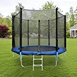 YOUTHUP 12Ft Trampoline for Kids, Outdoor Jumping-Bed with Safety Enclosure Net, Spring Pad, Ladder, Leisure Sports & Fitness Combo Bounce Jump Trampoline for Toddler Adult Capacity Up to 330 LBS