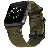 BarRan Apple Watch Sport Bracelet 42mm, Nylon Quick Release Adapters WatchBracelet...