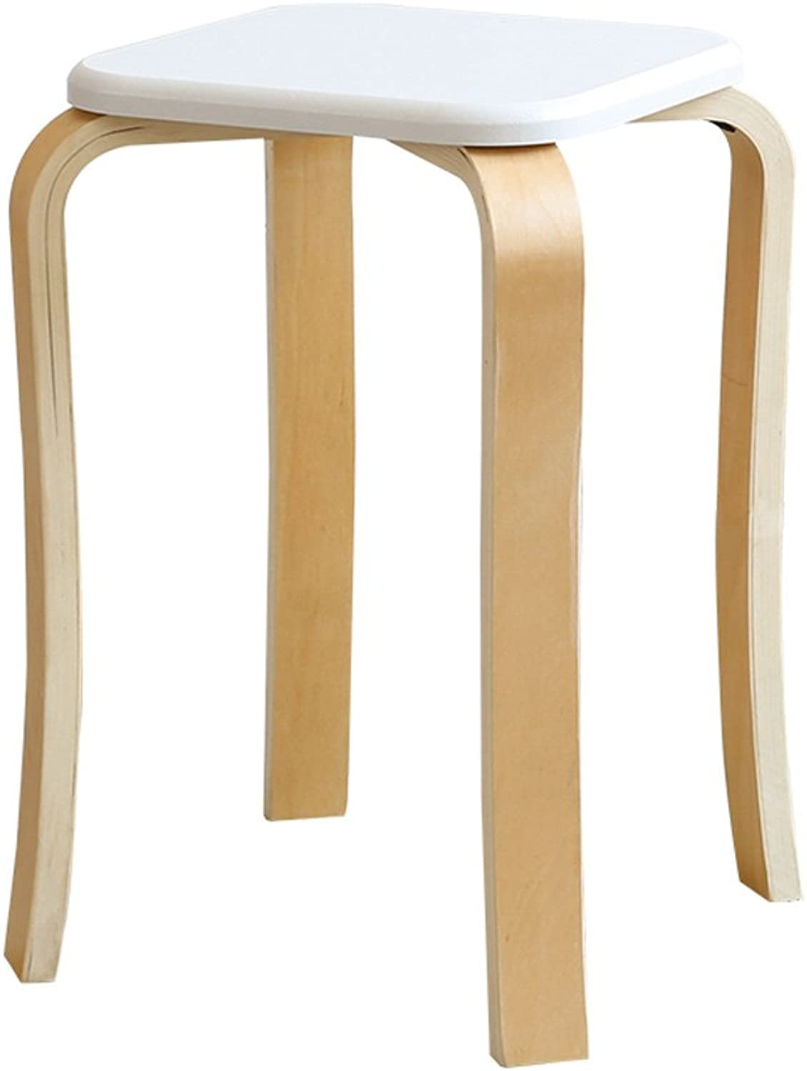 Zcxbhd Stools Stackable Solid Bentwood Stool Chair for Kitchen Office Parties Breakfast (color   F)