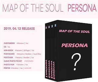 BTS 防弾少年団 - Map of the Soul : Persona [4 Set Ver.] 4 Album+4 Rolled Poster [初回ポスター丸めて発送] [JP-KR特典付] [韓国盤] [並行輸入品]