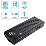 Lüfterloser Mini PC Stick, Intel Atom Z8350 Stick Computer Windows 10 Pro (64-Bit), 4GB DDR/ 64GB eMMC, 4K HD, Dual Band WLAN AC, USB 3.0, Bluetooth 4.2