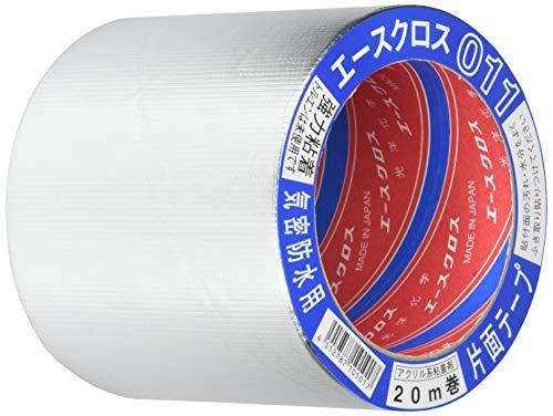 光洋化学 気密防水テープ エースクロス アクリル系強力粘着 片面テープ 011 アルミ 100mm×20M