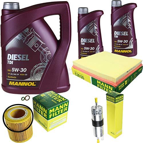QR-Parts Kit 85506353 C 28 125 HU 816 x WK 515 MN7909-5 MN7909-1 7 L Diesel TDI 5W-30 + paquete de filtros MANN 10931293