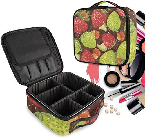 Cosmétique HZYDD Cool Strawberry Make Up Bag Trousse de Toilette Zipper Sacs Maquillage Organisateur Pochette for Compartiment Femmes Filles Gratuit