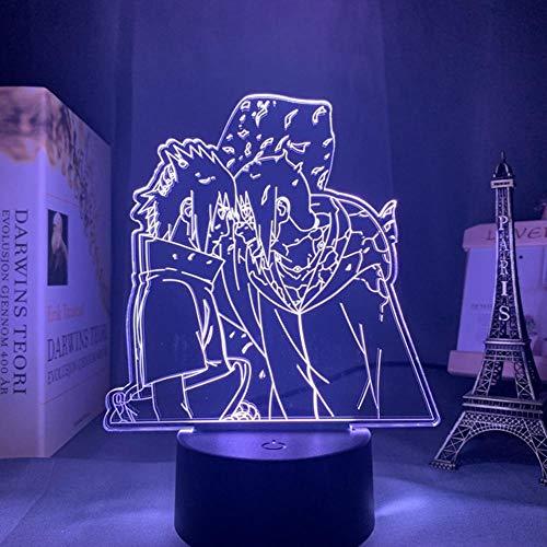 Anime Lampe Naruto Sasuke und Itachi Uchiha für Kinder Kind Schlafzimmer Dekor Nachtlicht RGB Buntes 3D Led Nachtlicht Manga Geschenk