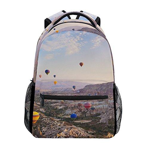 BENNIGIRY Globo de Aire Caliente Volando sobre Cappadocia Turquía Mochila Escolar Bolsa de Viaje Mochila
