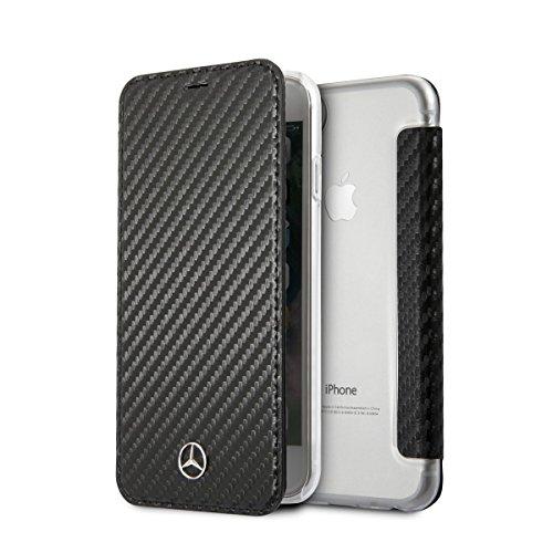 Mercedes MEFLBKI8CFBK Handytasche für Apple iPhone 8/7, Schwarz