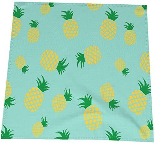 MODORSAN Paño de servilletas de Mesa Lavable de piña Amarilla para Fiesta