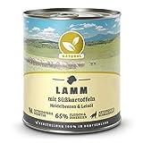 Hundeland Natural | Lamm + Süßkartoffeln | 6 x 800 g | getreidefreies Hundefutter | Nassfutter für alle Hunderassen | viel frisches Fleisch | artgerecht & besonders gut verträglich
