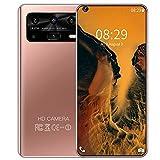 PENNY73 P50 7.2 HD Teléfono Celular de Pantalla Completa Smartphone Versión Global Teléfono Android10 12 + 512GB 16 + 32MP 5800mAh Teléfono Móvil,Pink