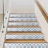 Decoración de escaleras 3D de papel tapiz decorativo de 6 piezas para hotel de oficina en casa