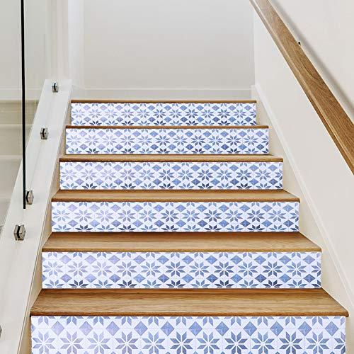 Pegatinas de Azulejos 6 Piezas de Azulejos de Cerámica Pegatinas de Escalera Autoadhesivas Calcomanías de Azulejos de Pared Diy Calcomanía de Pared Calcomanía de Escaleras de Moda