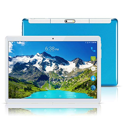 Android 8.1 Tablet 10 Inch (10.1'),Octa Core,3G Dual SIM Phablet Tablets PC,Dual Camera,4GB Ram+64GB Disk,Wifi,GPS,OTG (Blue)