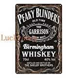 N/C British High Score Crime Drama Poster Whiskey Vintage Tin Sign Retro Metal Sign Shabby Chic Wall Decor 20x30cm SW576
