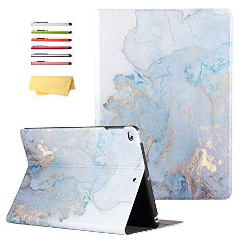 UUcovers Stand Case for Apple iPad Air 3 Tablet 10.5 inch 2019 (3rd Generation) / iPad Pro 10.5' 2017, Multi-Angle Viewing Magnetic Smart Hard Back Shockproof Cover, Auto Wake/Sleep, Gold Marble