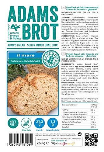 Adams Brot il mare - 500 gr Eiweißbrot mit Gold Leinsamen und Kräuter der Provence (500)