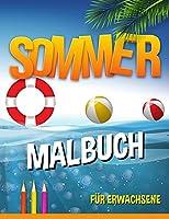 Sommer Malbuch: entspannende Strand-Urlaubs-Szenen, friedliche Ozean-Landschaften
