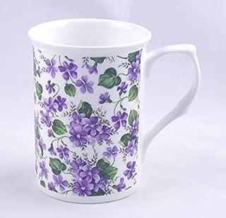 Fine English Bone China Mug - Wild Violet Chintz - Adderley Fine Bone China, England