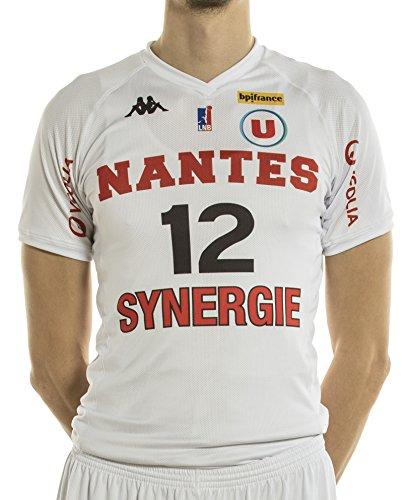 Kappa Basket Nantes Réplica Domicile 2017-2018 - Camiseta de Baloncesto para Hombre, Hombre, MAILDOMNANT, Blanco, FR : XXS (Taille Fabricant : 8 ANS)