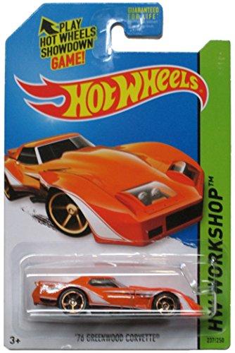 Hot Wheels 2014 Hw Workshop Muscle Mania Orange \'76 Greenwood Corvette 237/250 by Hot Wheels